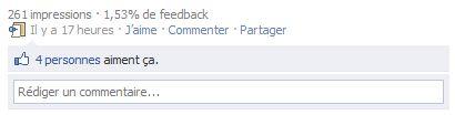 Feedback sur une mise à jour Facebook