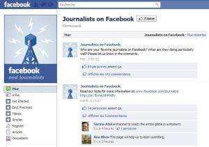Facebook pour les journalistes