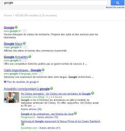 Les résultats de recherche Google contiennent souvent des vidéos