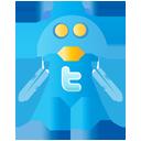 Un petit robot twitter indique la page de synthèse des tweetchats PR Rooms