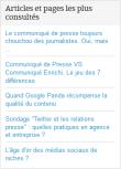 """liste des articles les plus consulté du blog PR Rooms """"L'Entreprise Média"""""""