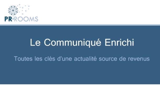 """Couverture de l'ebook PR Rooms """"Le Communiqué Enrichi"""""""