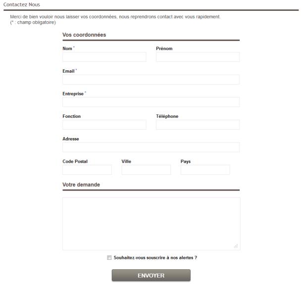 Un formulaire contact constitue le premier pas de la fidélisation dans les RP et relations publics