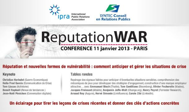 Invitation à la conférence ReputationWAR