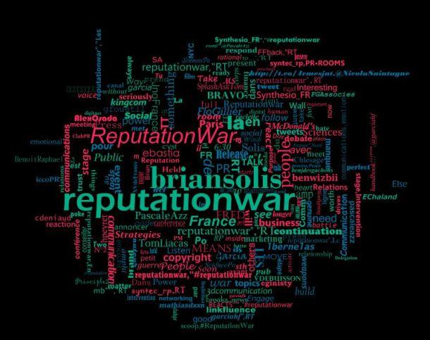Tag cloud Twitter de la conférence #ReputationWAR