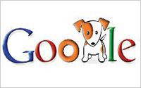 Un doodle Google représentant un chien