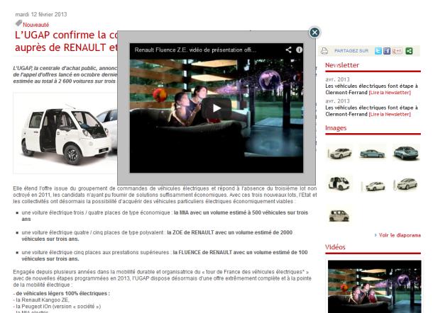 Une vidéo affichée en avant plan d'un communiqué multimédia PR Rooms et son lien de partage sur YouTube