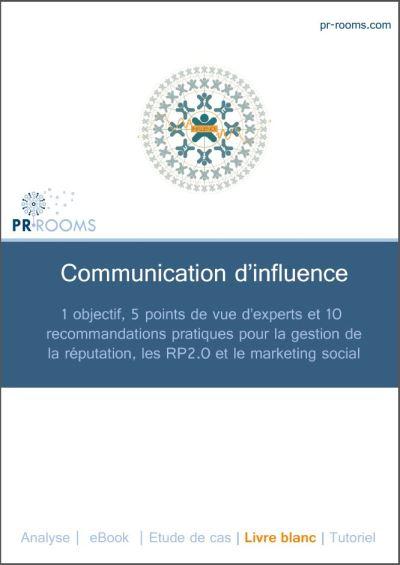 Couverture du livre blanc PR Rooms sur la communication d'influence avec Christophe Ginisty Olivier Cimeliere Pascal Jappy Jimi Fontaine et Ysée Rogé