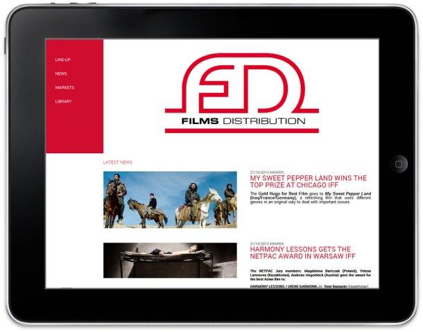 Un site communicant reflète valeurs, expertise et vie d'entreprise. Ici celui de FilmsDistribution.